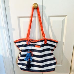 Vera Bradley Striped Tote Bag